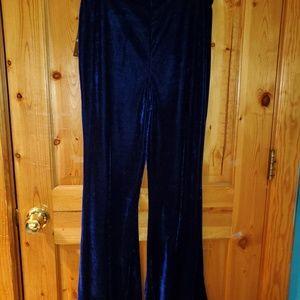 Velvet flared leggings